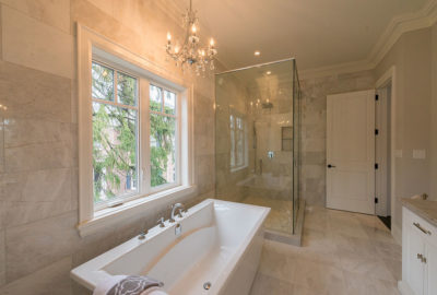 Bathroom in new custom built home Oakville Burlington