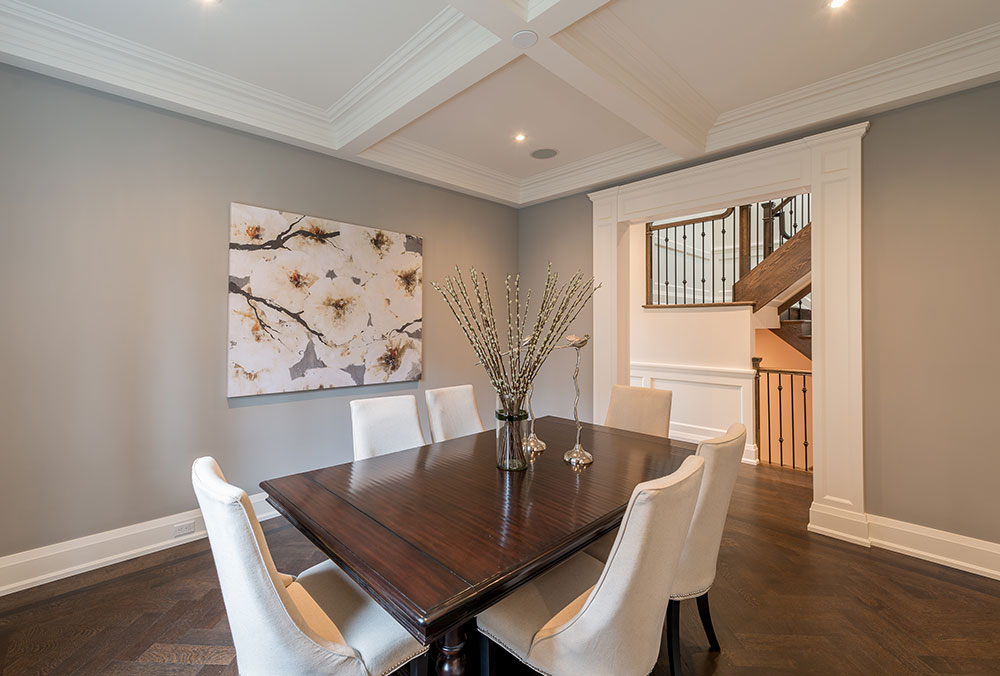 Dining Room in a new build custom home Burlington Oakville