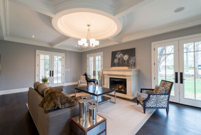 living room ideas in new custom home building in Burlington Oakville