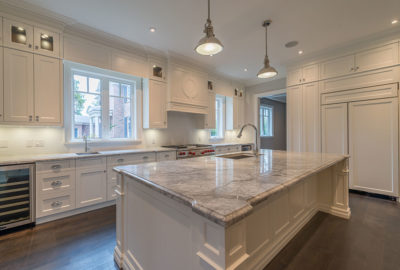 Kitchen in a new custom home building on lakeshore rd. Burlington