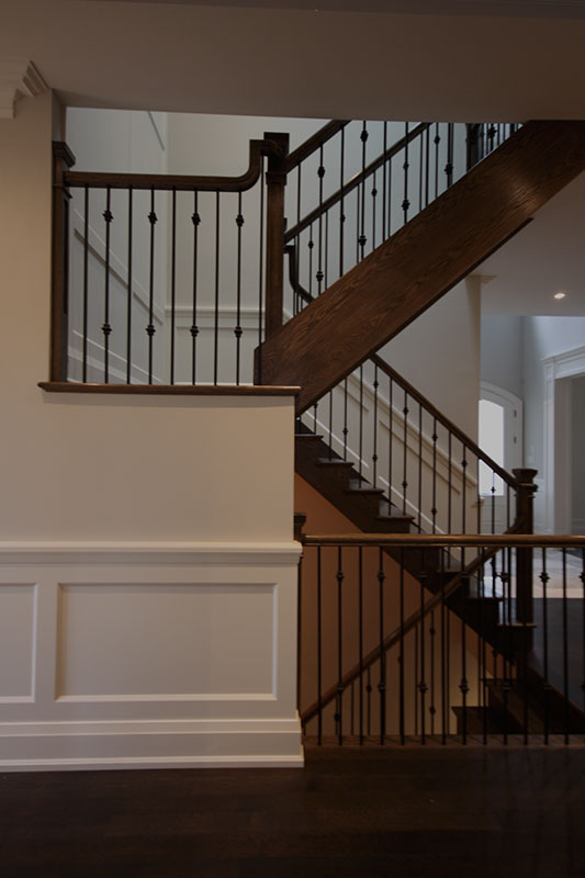 Luxury home builder staircase in Oakville